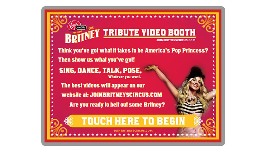 Britney Spears Video Booth